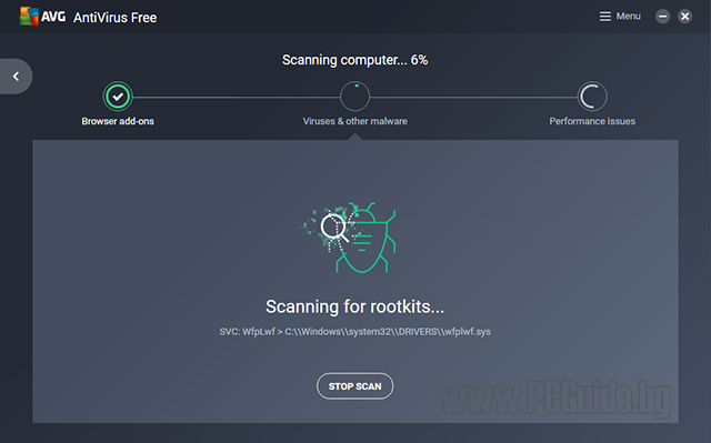 AVG Perform Computer Scan