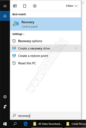 Search Recovery drive