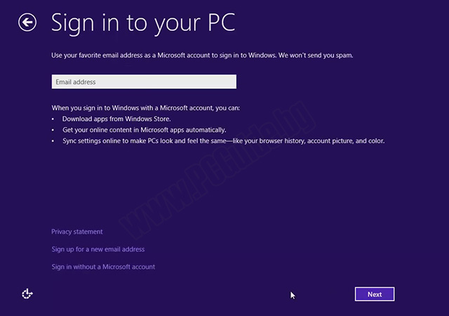 Sign in to your PC