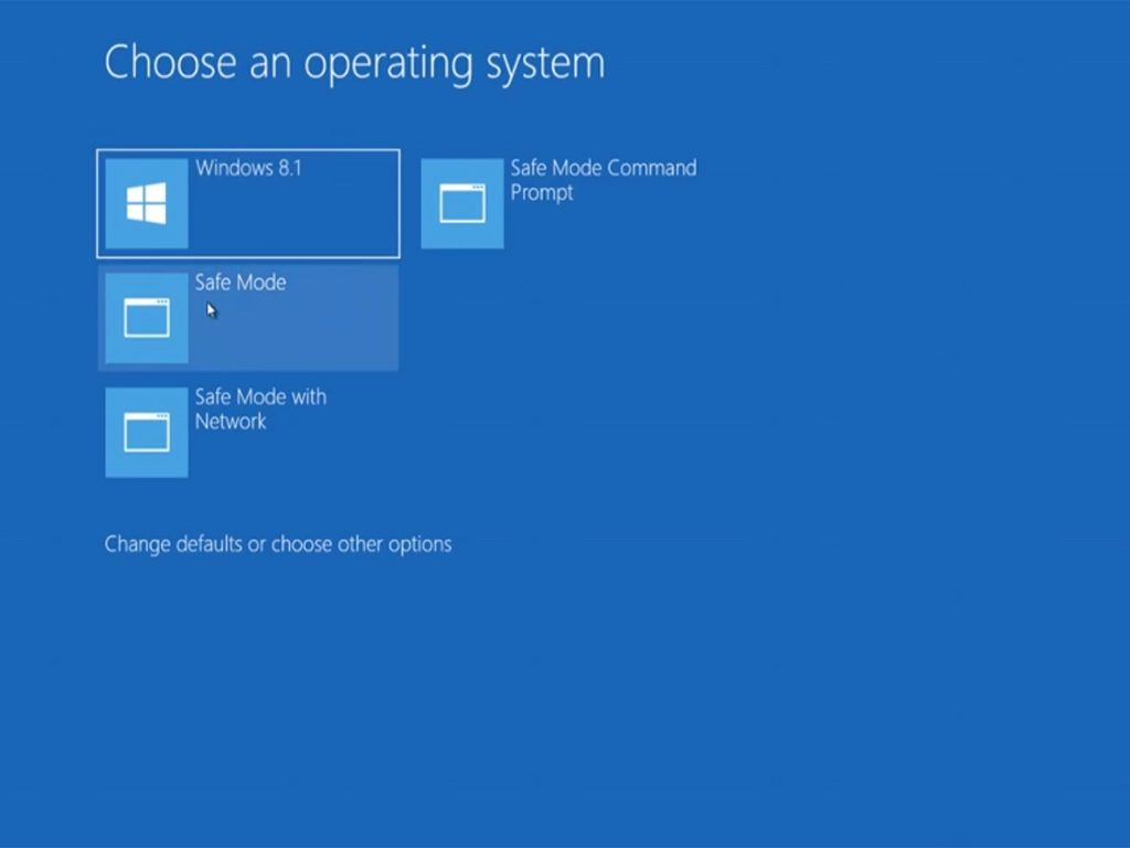 Windows 8.1 Safe Mode