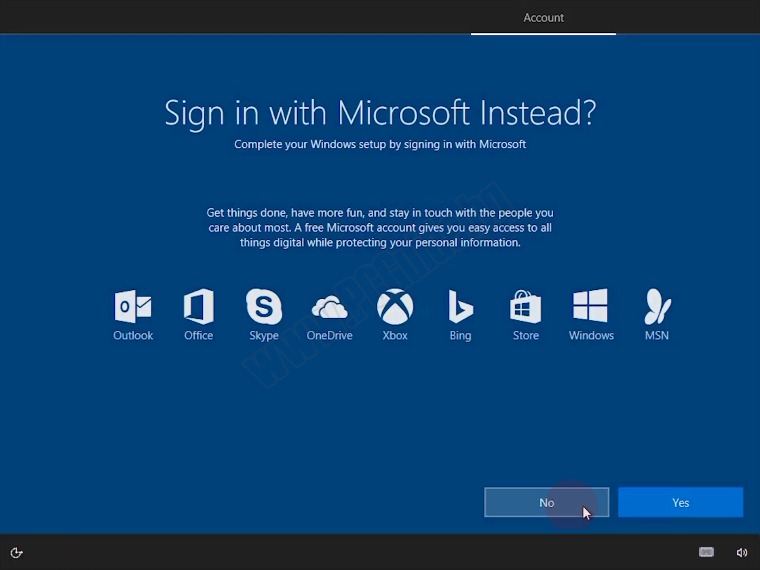 Sign in with Microsoft instead? No