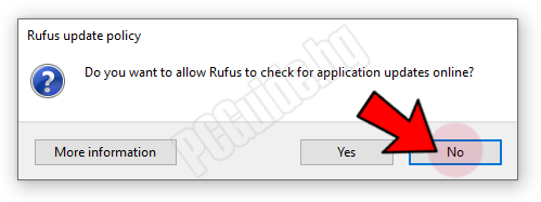Rufus update policy - No