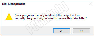 Some programs that rely on drive letters might not run correctly