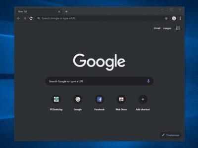 Dark mode в Chrome