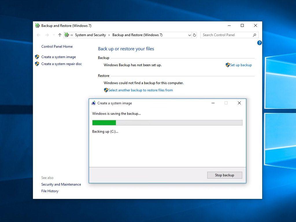 Системен образ на Windows 10