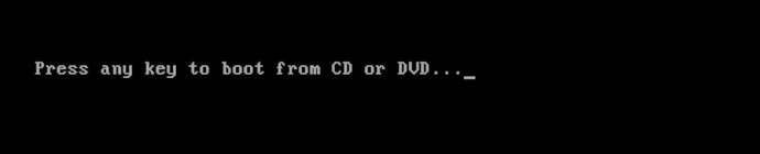 Pres any key to boot from CD or DVD...