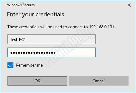 Enter your credentials