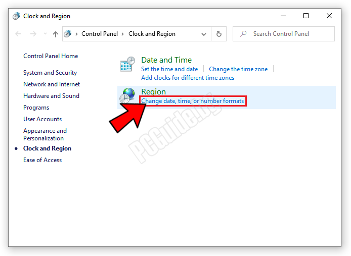 Change date, time, or number formats
