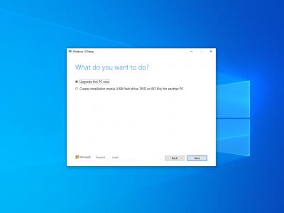 Надстройване на Windows 10