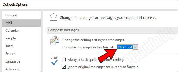 Compose messages in this format